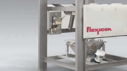 Sanitary Bulk Bag Discharger Flexicon With Open Channel Construction