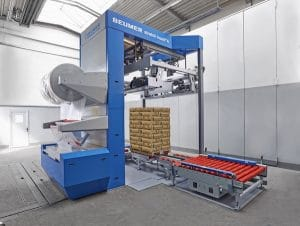 The easy, intuitive and reliable operation of the new BEUMER stretch hood A is especially appealing to customers