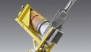 Dust-Tight Drum Tipper For Difficult Materials - Flexicon