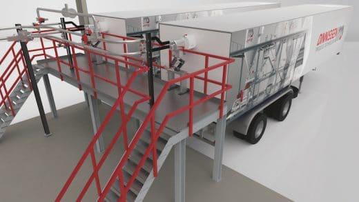 Unique Safe Transport of BHET - by Dinnissen Process Technology