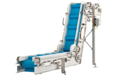 Sanitary Incline Belt Conveyor for Food and Packaging Applications