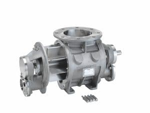 Rotary valve for mid-level hygiene requirement and dry cleaning