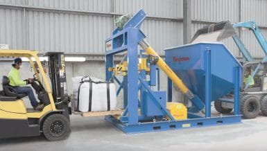 Heavy-Duty Bulk Bag-Filling Station Handles Abrasive Zircon and Rutile