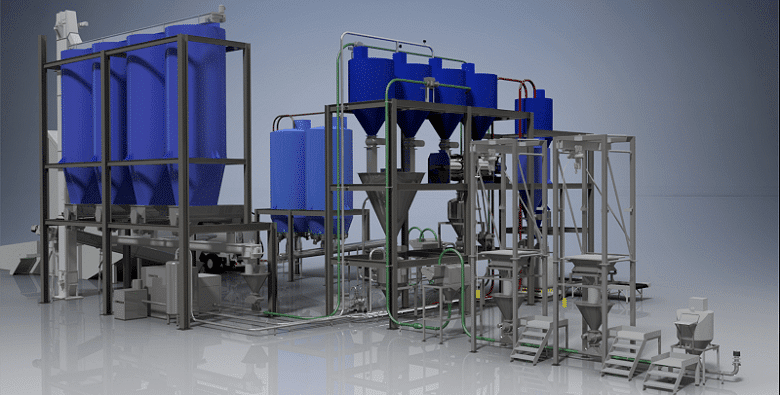 What is a pneumatic conveying system?
