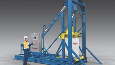 Ultra-Heavy-Duty Bulk Bag Filler With Integral Conveyor
