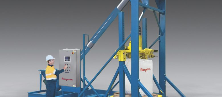 Ultra-Heavy-Duty Bulk Bag Filler With Integral Conveyor