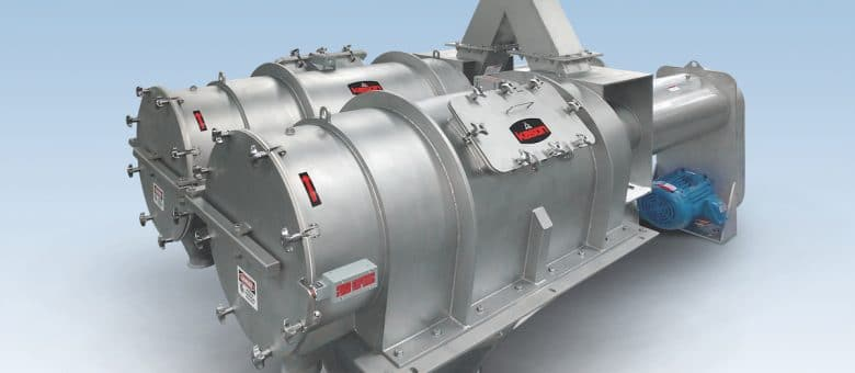 Twin In-Line Pneumatic Centrifugal Sifter Cantilevers For Quick Cleaning