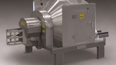 Sanitary Rotary Batch Mixer Distributes Liquids Throughout Solids in 1 to 3 Minutes
