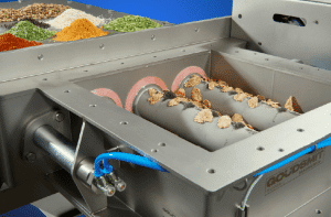 The automatic 'Easy Clean flow' magnet requires little installation height and removes metal particles and weakly magnetic stainless steel particles as small as 30 μm from large volumes of powders in the food, chemical, ceramic and plastics industry. (such as herbs and spices, cereals, dried legumes, coffee beans and sugar)