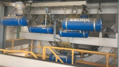 90% of Blockages Removes with AIRCHOC® Air Cannons