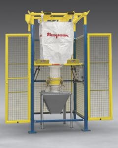 Bulk Bag Discharger with Safety Cage