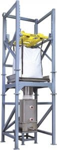 "New Model 821 Bulk Bag Unloader Utilizes ""Regulated Vibration"" To Reliably Discharge Bulk Bags"