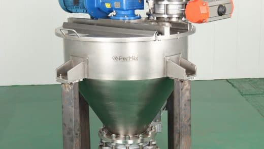 Efficient and Versatile Blending Machine for Batch Mixing of Free-Flowing Powders