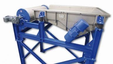 Vibratory Conveyor with Integrated Magnetic Drum