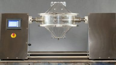 Transparent Powder Mixer Offers Fastest, Clearest Insight into Mixing in the Industry