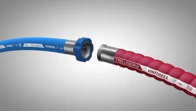 Trelleborg Launches White Conductive Hoses that Reduce Powder Ignition Risk