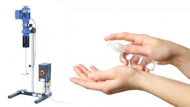 Production of Hand Sanitiser with IKA Agitators