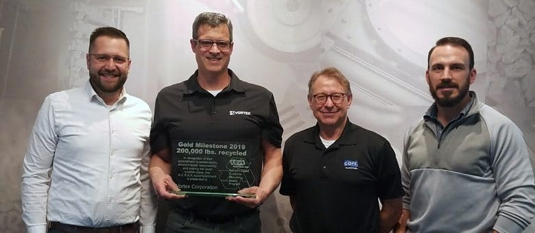 Vortex Awarded for Recycling Efforts