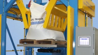 Material Master Bulk Bag Conditioner With Rotary Lift Platform