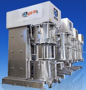 HAUPPAUGE - The ROSS Double Planetary Mixer is available in a reverse-lift design which raises the vessel to the mixing position, rather than lowering the agitator assembly.