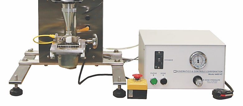 Kinematics' Model 5500/TX, Semi-Automatic, Bench Top Powder Filler
