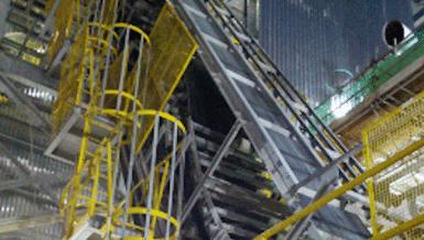 DSI Sandwich Belt High Angle Conveyors Minimize Environmental impact