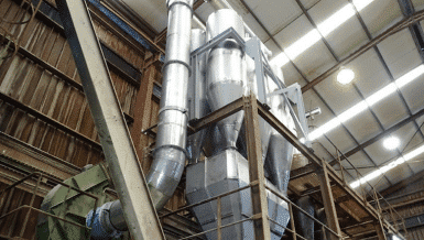 Hurricane MK System for Sulfanilic Acid Powder Recovery and Emission Control of Fluid Bed Dryer