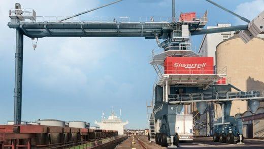 Bruks Siwertell's Port-mobile Unloader Expands The Operational Range