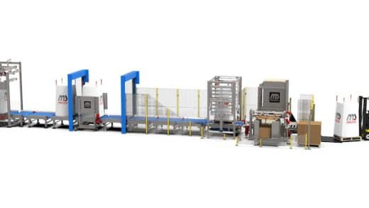 Dinnissen Presents Innovation that Combines High-Care Filling with Low-Care Palletizing