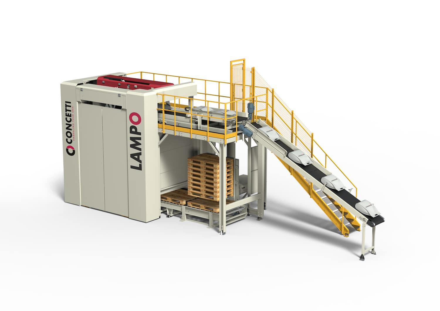 """New Concetti Palletiser For Bags, Efficient Logistics In A """"Lampo"""""""