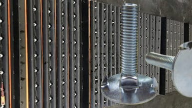 CONVEYOR BELTS - 4B pioneers use of stainless-steel elevator bolts for magnet belts in concrete recycling