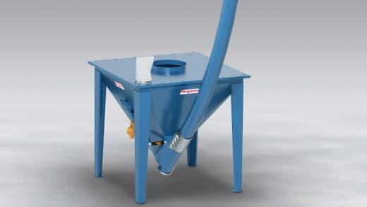 All Steel Flexible Screw Conveyor Resists Abrasion