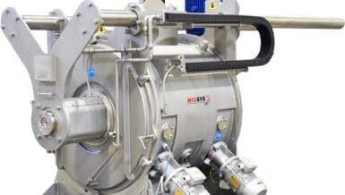 3D Ploughshare Mixer for Multiple Batch Sizes and Increased Flexibility