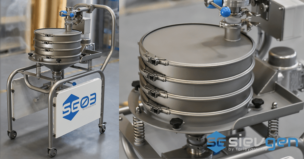 Metal Powder Sieving Station for Additive Manufacturing