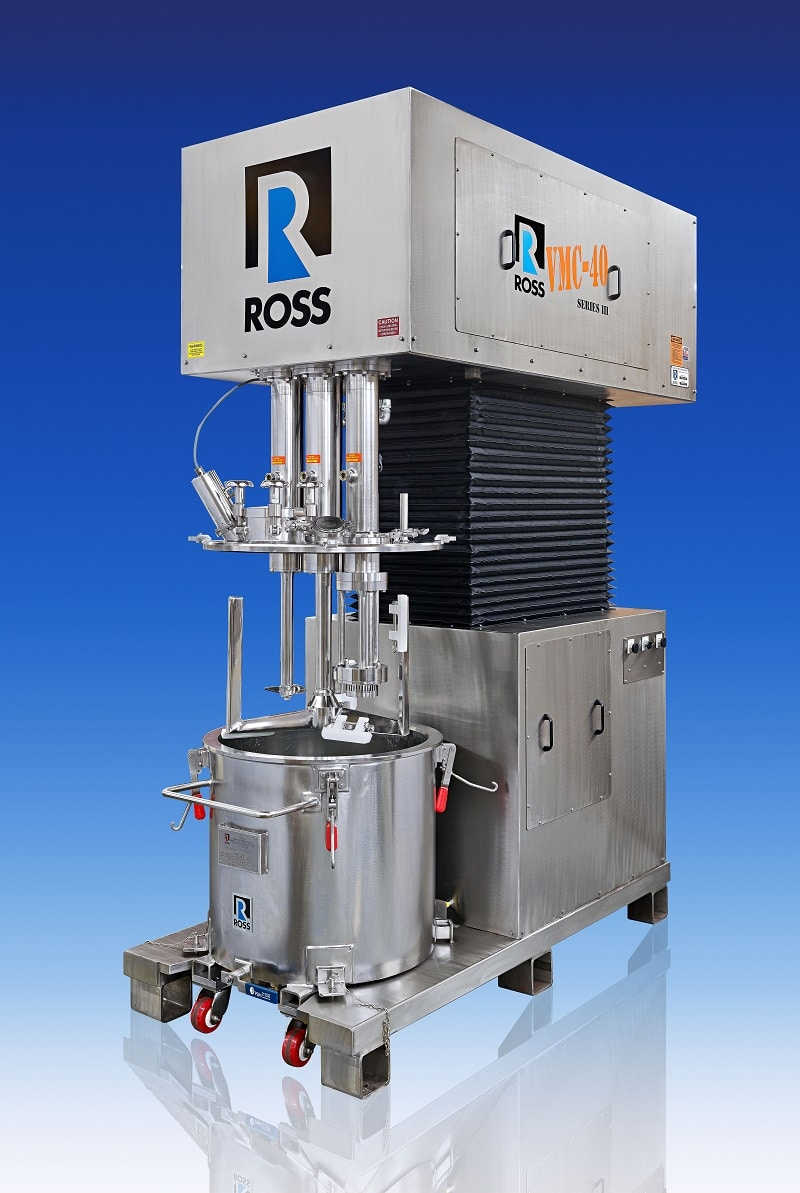Triple Shaft Mixers for Hygienic Processes
