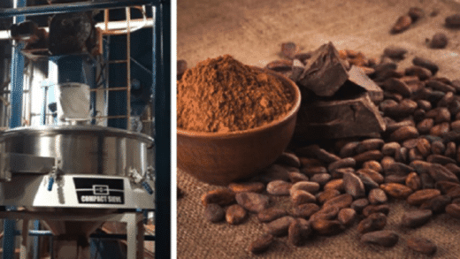 Industrial Sieving of Cocoa Powders
