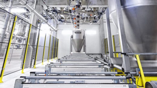 Fully Automated Ingredient Handling System With Daxner Container Systems DCS