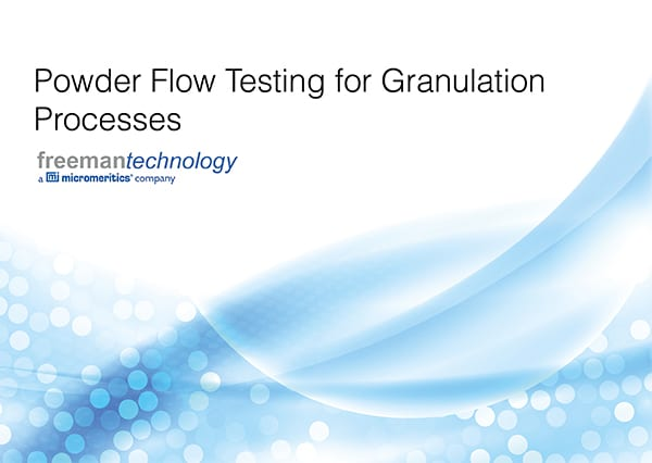 Getting to grips with granulation: a new eBook from Freeman Technology
