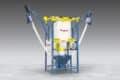Bulk Bag Discharger With Dual Flexible Screw Conveyors