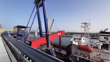 Complexbarge Loading Project In The Port Of Gdansk