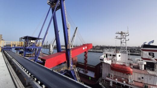 Complex Barge Loading Project In The Port Of Gdansk
