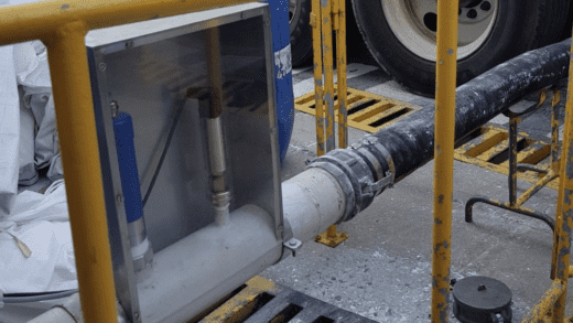 Material Flow Monitoring for Truck Unloading Efficiency