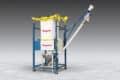 Mobile Bulk Bag Discharger With Mobile Flexible Screw Conveyor, Hopper