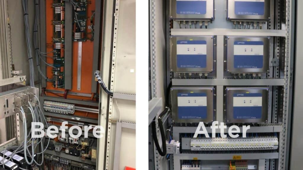 Coperion K-Tron feeder technology before and after modernization