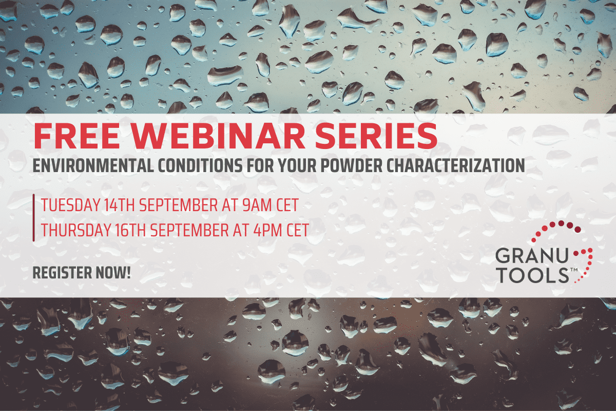Free Webinar - Environmental Conditions For Your Powder Characterization
