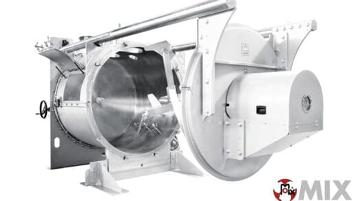Industrial Mixers Equipped With Fully Extractable Rotor Shaft